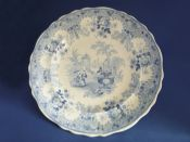 Early Victorian Davenport 'Canton' Pattern Dinner Plate c1840